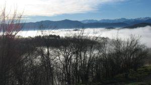 la mer de nuages pour un paysage féérique