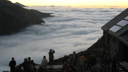 mer de nuages au refuge des Estagnous
